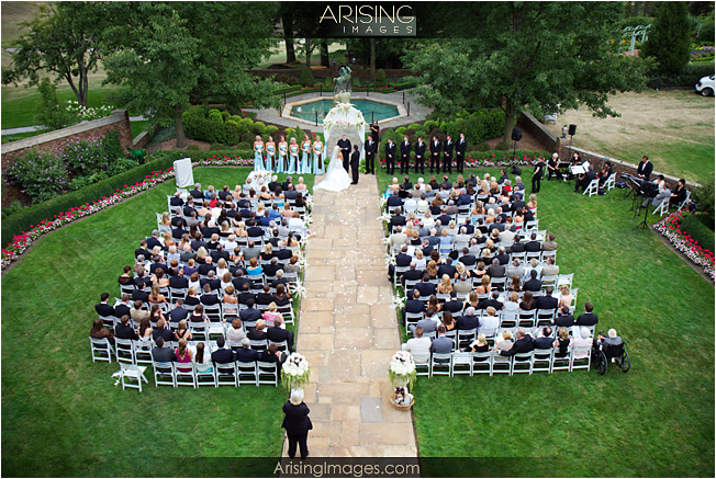 meadowbrook mansion outdoor wedding