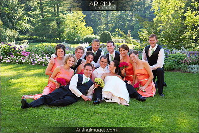 bridal party at Cranbrook