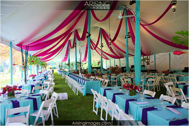 outdoor tent wedding at cranbrook