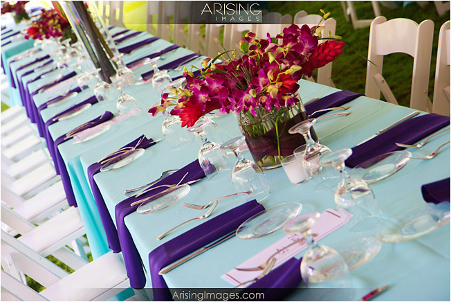 table settings at cranbrook wedding