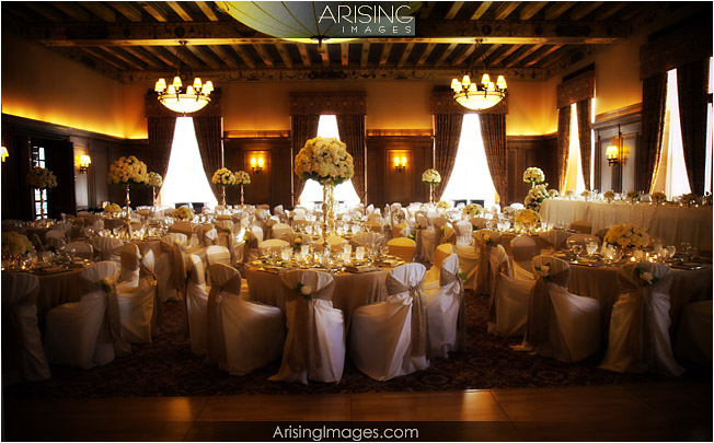 Detroit Athletic Club wedding reception setup