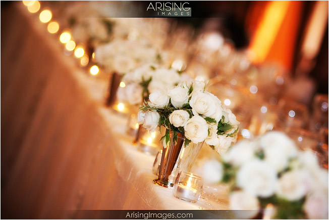 Flowers on the head table