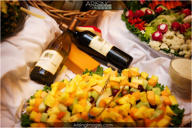 cheese and wine trays at cherry creek golf club in shelby township, MI