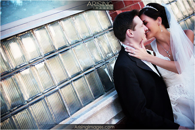 wedding photos in downtown Utica, MI