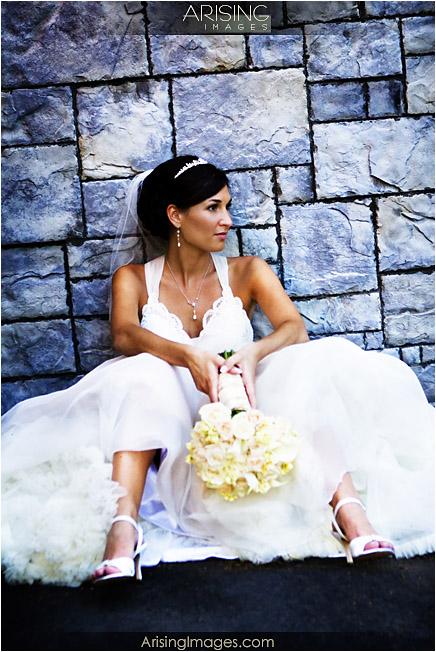 bride at downtown Utica, MI
