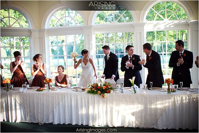 head table in the conservatory at cherry creek