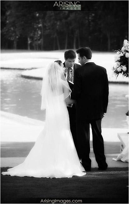 wedding ceremony at cherry creek golf club