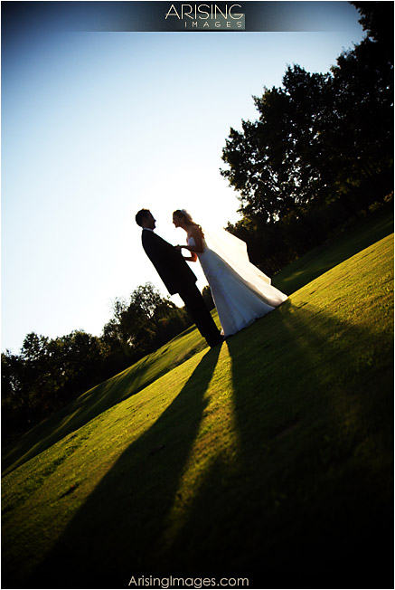 bride and groom at cherry creek golf club