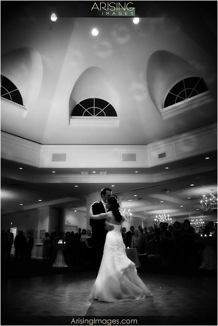 bride and groom first dance at cherry creek golf club