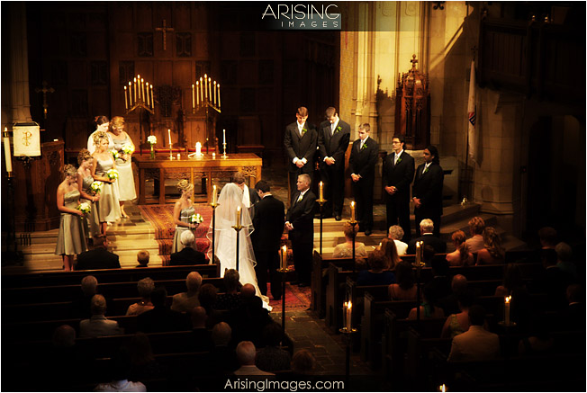 wedding ceremony at grosse pointe memorial church