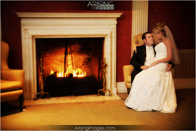 indoor wedding photos at the detroit golf club