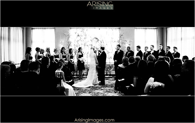 indoor wedding at detroit golf club