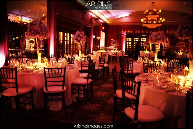 wedding reception at the detroit golf club.  room shot.
