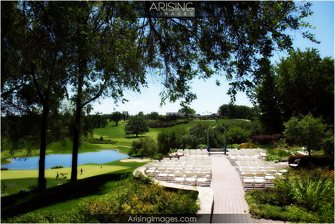 outdoor wedding ceremony at the wyndgate golf and country club