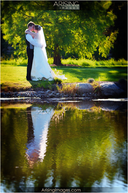 bride and groom on the wyndgate golf course