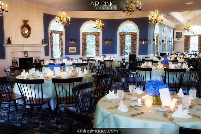 wedding reception setup at the wyndgate in rochester