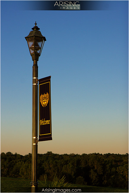 lightpole at sunset
