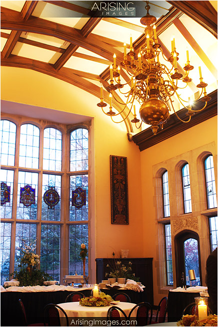 main dining room in the pine knob mansion