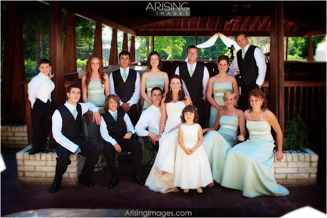 casual bridal party group photo