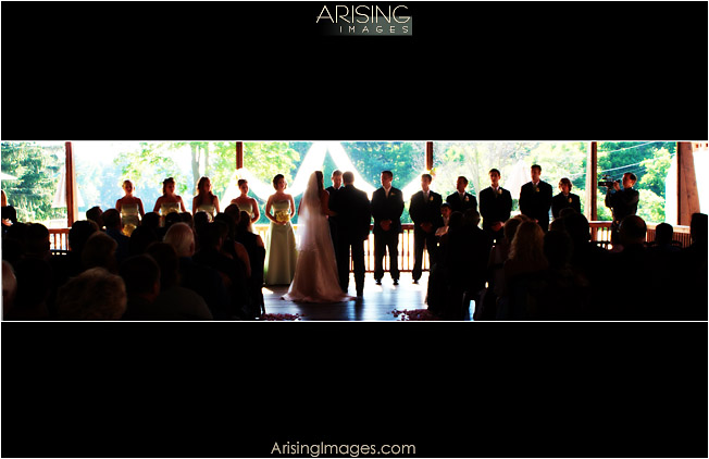 pine knob carriage house wedding ceremony