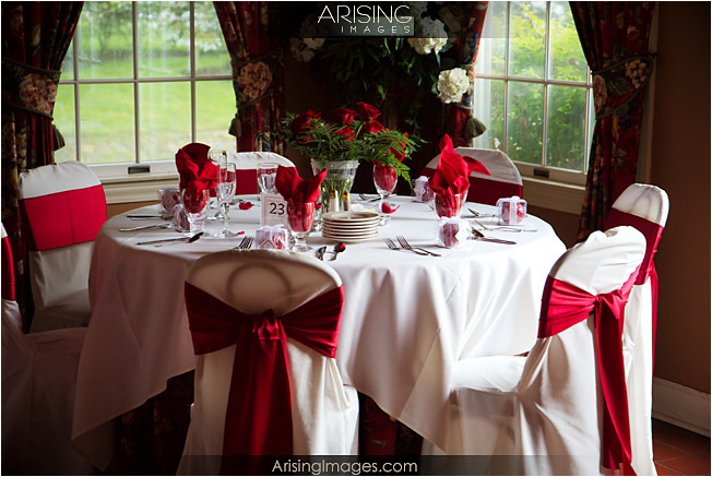 Table setup at Wellers Carriage House