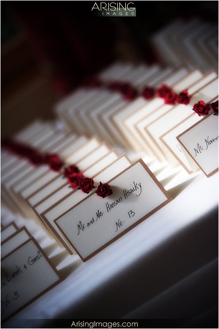 table assignment cards for wedding ceremony