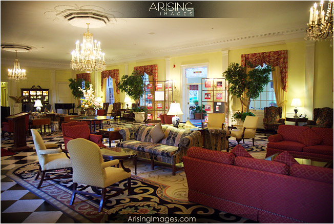 lobby of dearborn inn