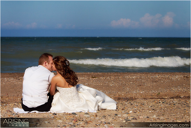 wedding photos on beach near port huron