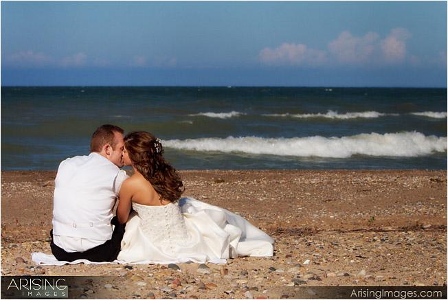 wedding photos on beach near port huron