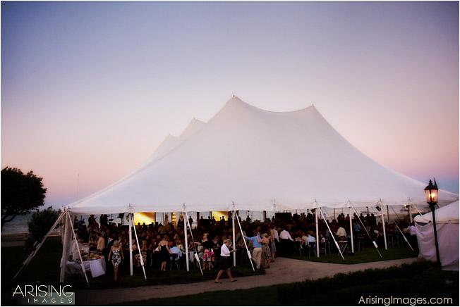 huge wedding tent from special event rentals