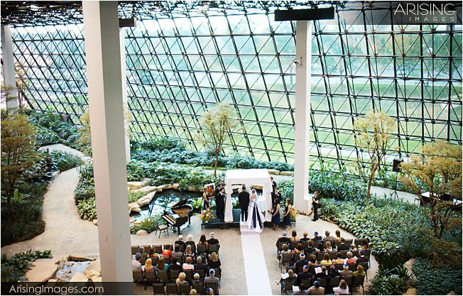 Wedding ceremony at Westin Southfield Atrium