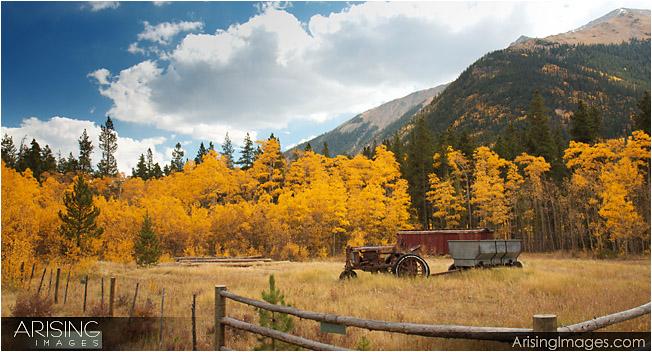 Farm equipment near twin lakes, CO