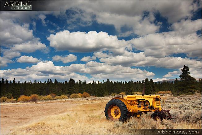 Old tractor near leadville, CO