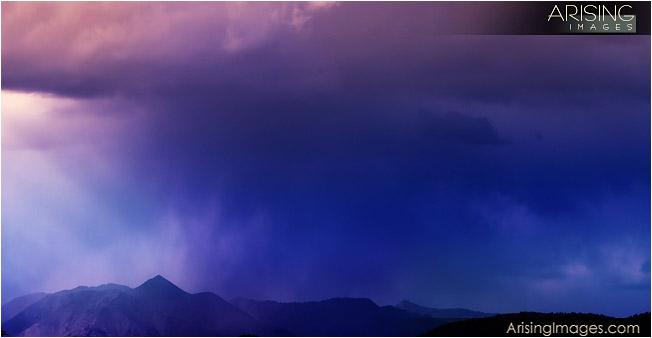 Stormy skies on the Colorado plains