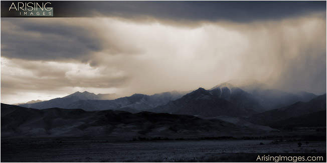 Storm over the great sand dunes national park, CO