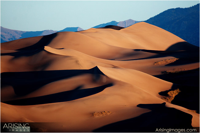 Sunrise at the great sand dunes national park, CO