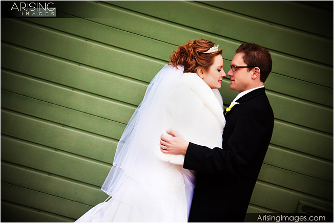 artsy and urban style wedding photos in lake orion, michigan