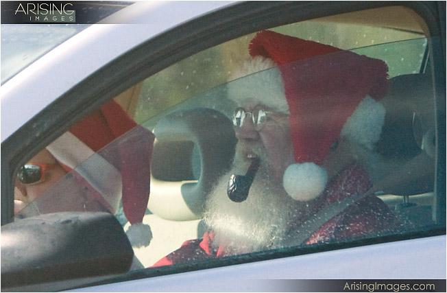 santa driving a saturn