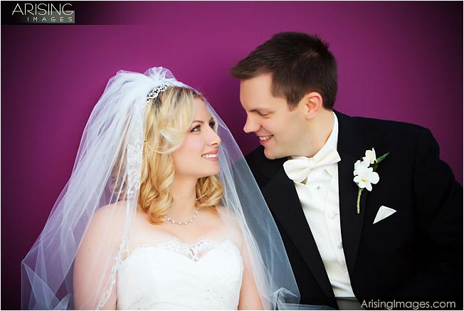 Wedding photos in downtown Rochester, MI