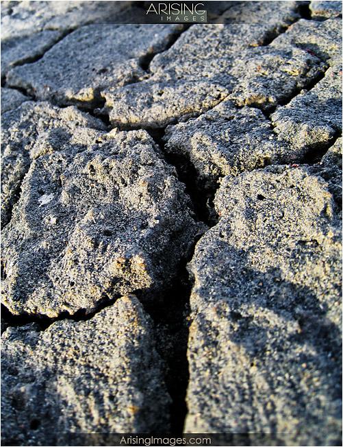 Bisti Badlands dry ground