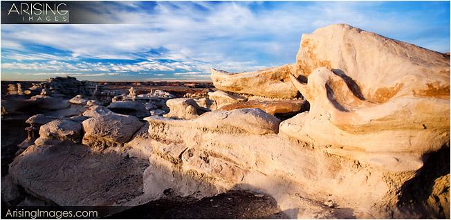 Bisti Badlands rock formations