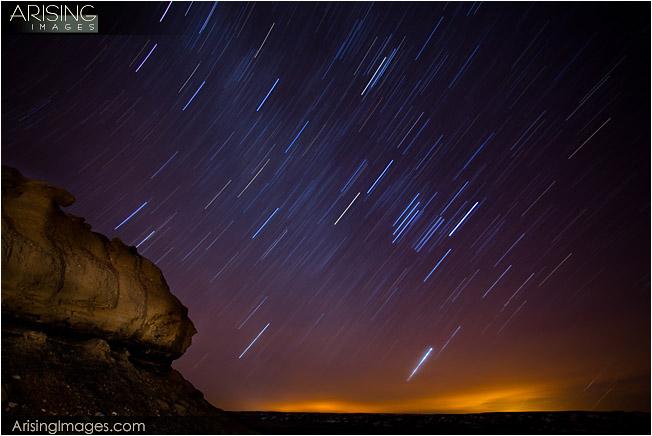 stars at the Bisti Badlands