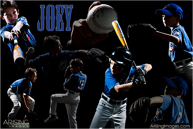 kids baseball sports photo posters