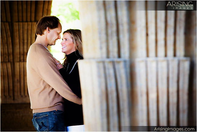 engagement pictures on the grounds at cranbrook