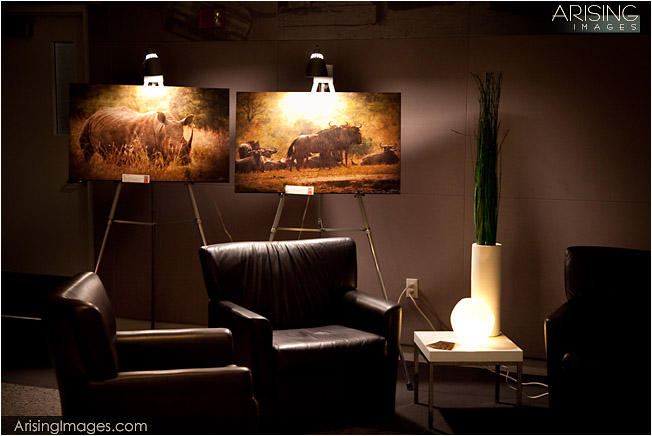 display of fine art travel photography images.