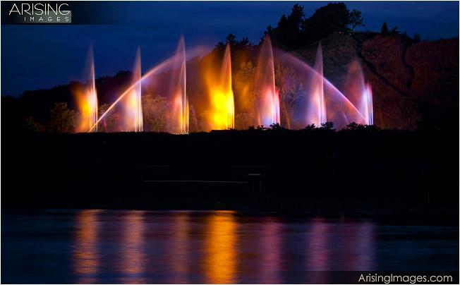 musical fountain in grand haven, mi