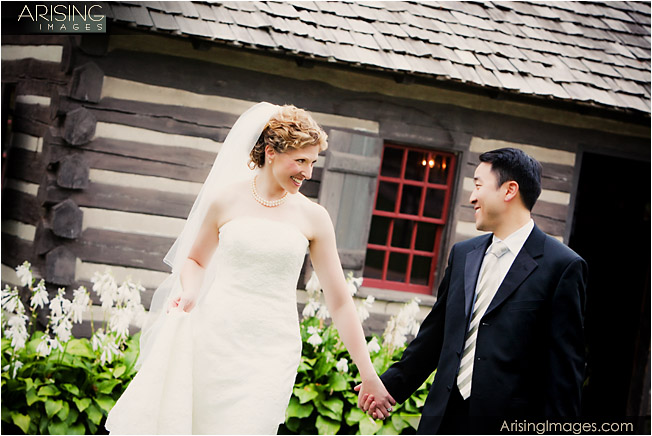 wedding photos at greenfield village in dearborn, michigan