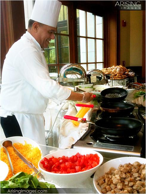 omelet bar at the royal park hotel