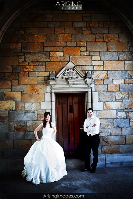 wedding photos on U of M campus in ann arbor