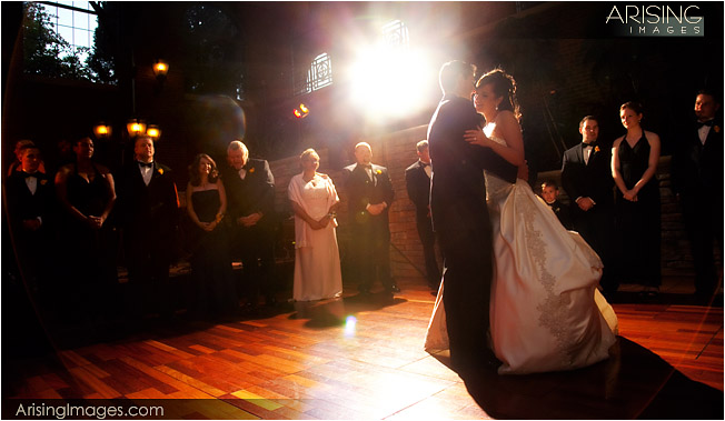 inn at st. johns atrium wedding reception
